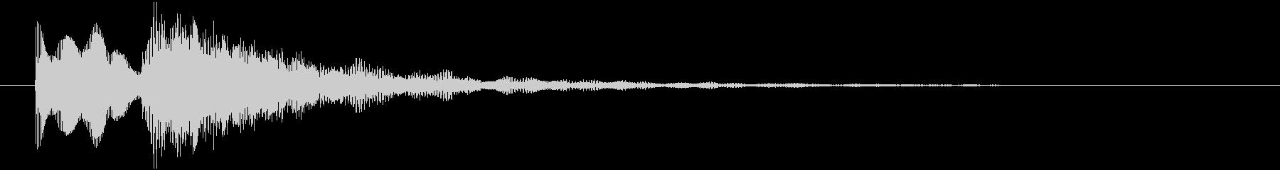 エレピの優しい音サウンドロゴ、ジングルにの未再生の波形