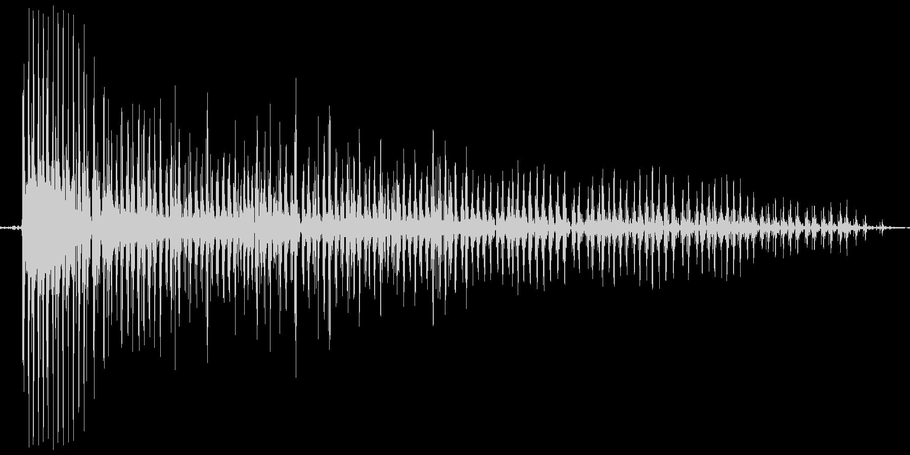 ブ~ゥゥゥゥ。おならの音(低め・長め)の未再生の波形