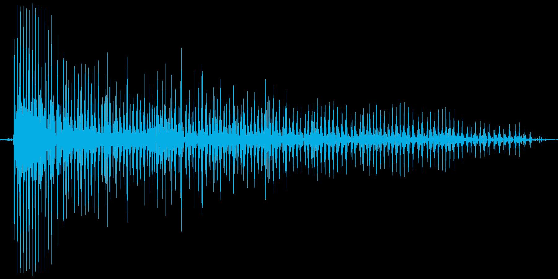 ブ~ゥゥゥゥ。おならの音(低め・長め)の再生済みの波形