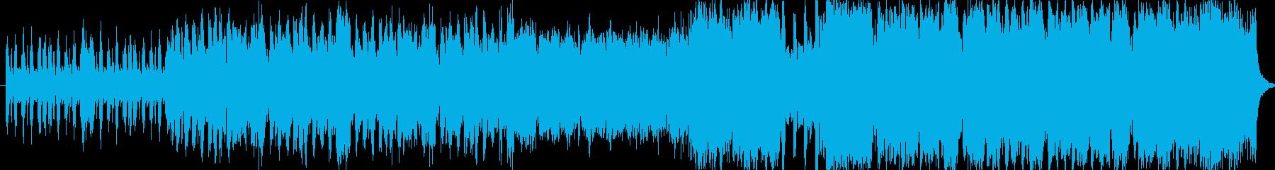 爽やか、疾走感のあるBGMの再生済みの波形