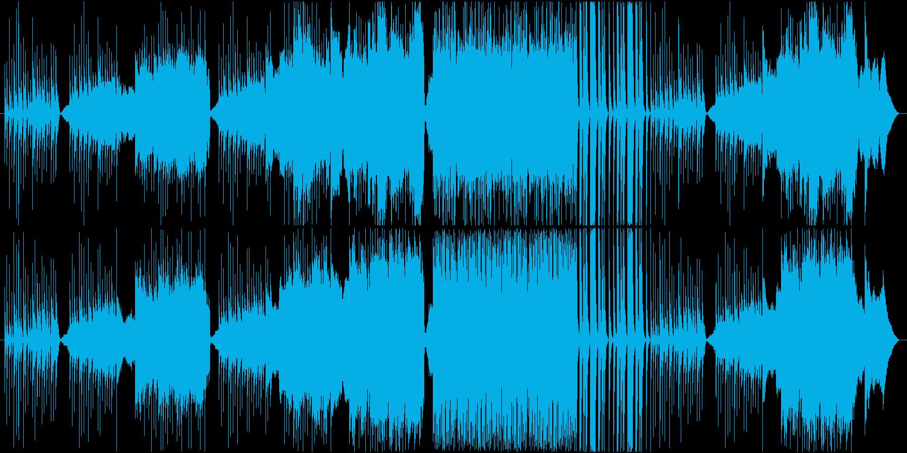 ホッとするような黄昏どきをイメージした曲の再生済みの波形
