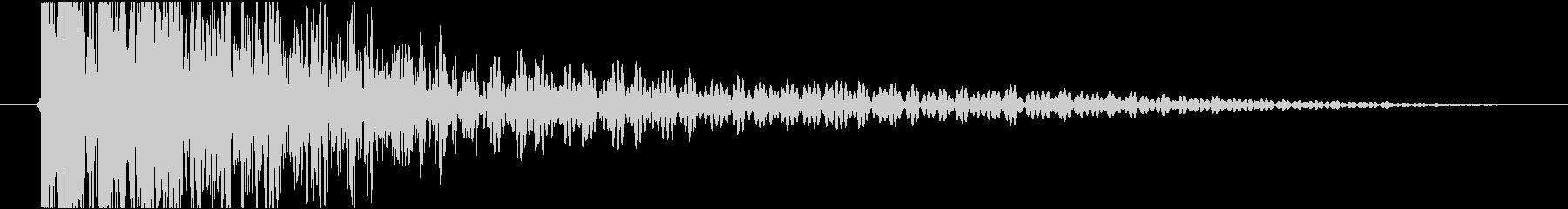 太鼓&三味線ワンショット音の未再生の波形
