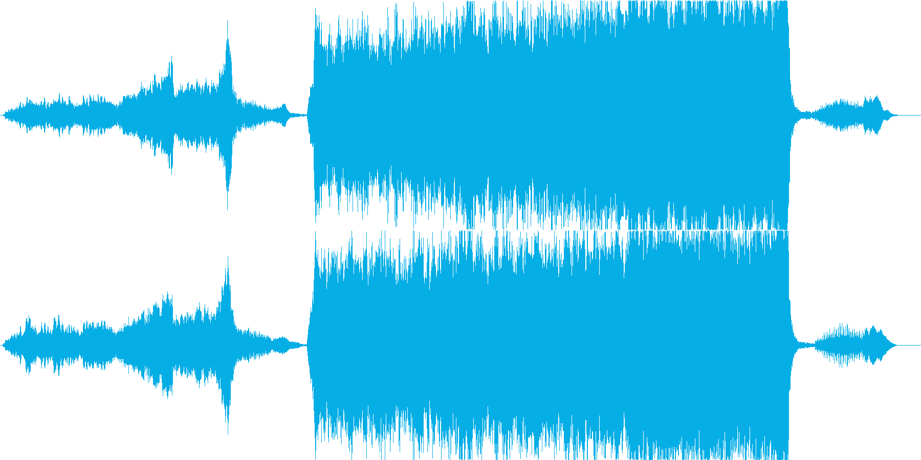 重いエピックオーケストラ、トレイラーの再生済みの波形