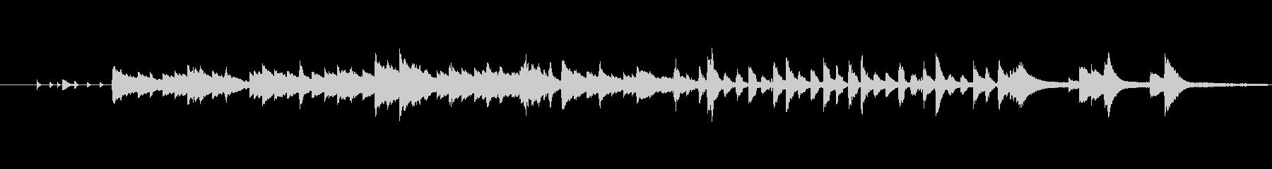 スイング調のリズムとピアノの回顧的な楽曲の未再生の波形