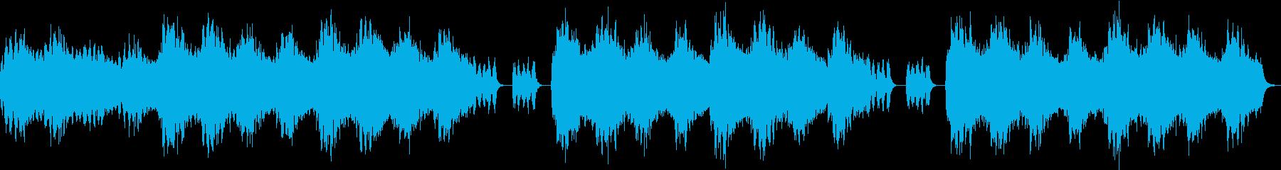 ストレスや不安を軽減する安らぎ音楽の再生済みの波形