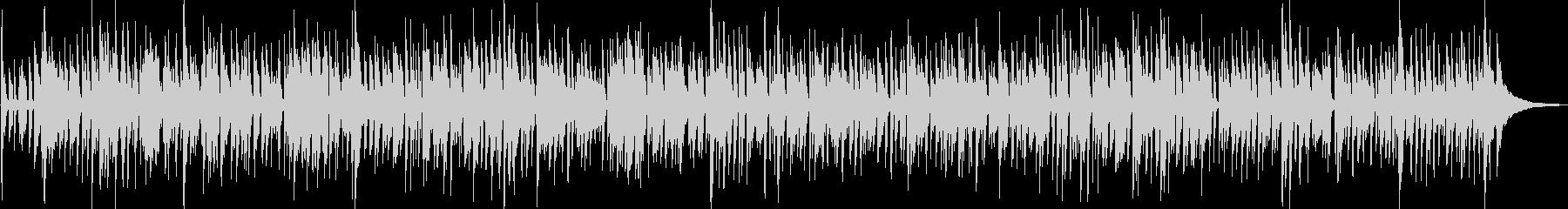 軽快なアコースティックギターのボサノバの未再生の波形