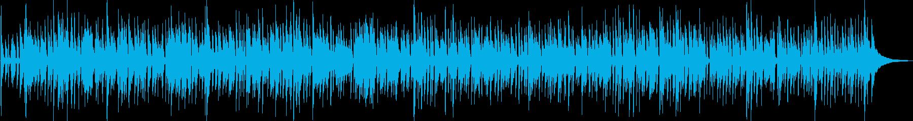 軽快なアコースティックギターのボサノバの再生済みの波形
