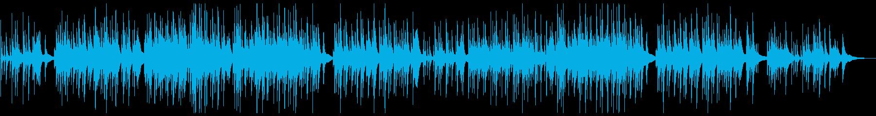 しっとりと切ないピアノバラードの再生済みの波形