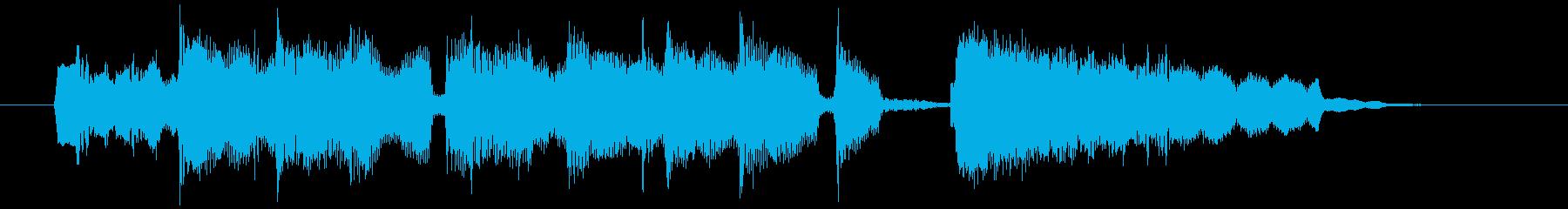 15秒のゆったりボサノバジングルの再生済みの波形