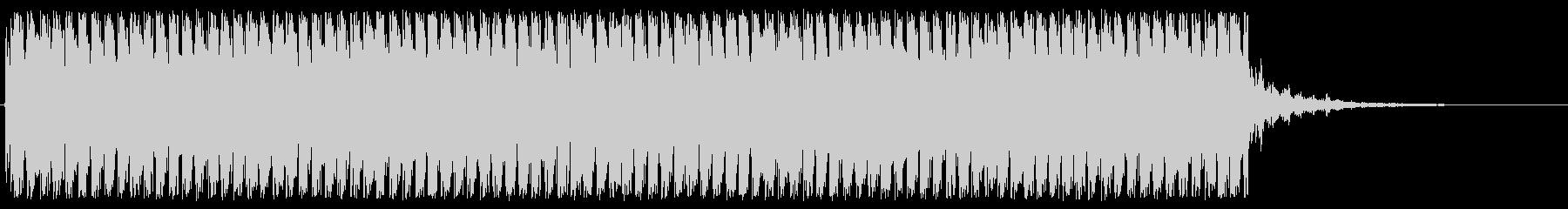 機関銃の音ですの未再生の波形