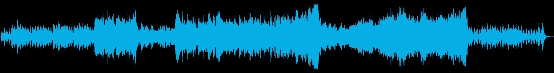 オーケストラ風のファンタジックなインストの再生済みの波形