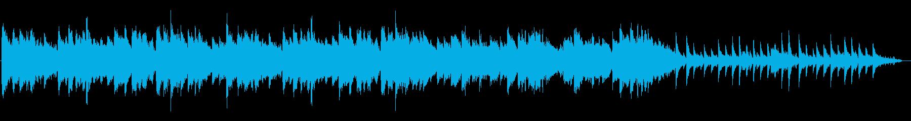 爽やかで癒されるクリアなピアノ伴奏の曲の再生済みの波形