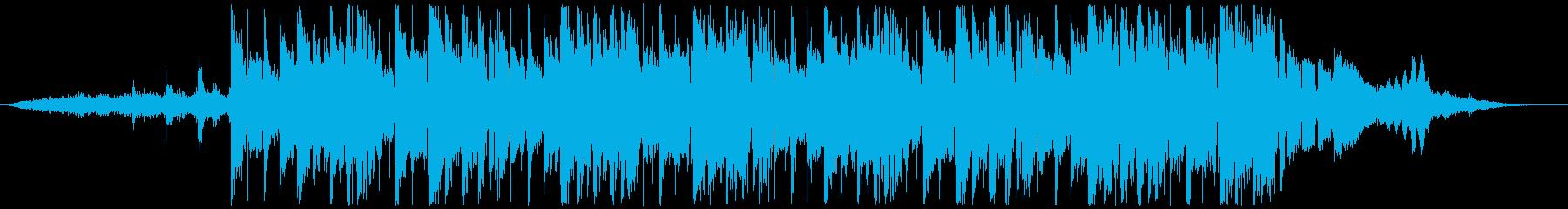 クランチなギターが徐々に重なるジングルの再生済みの波形