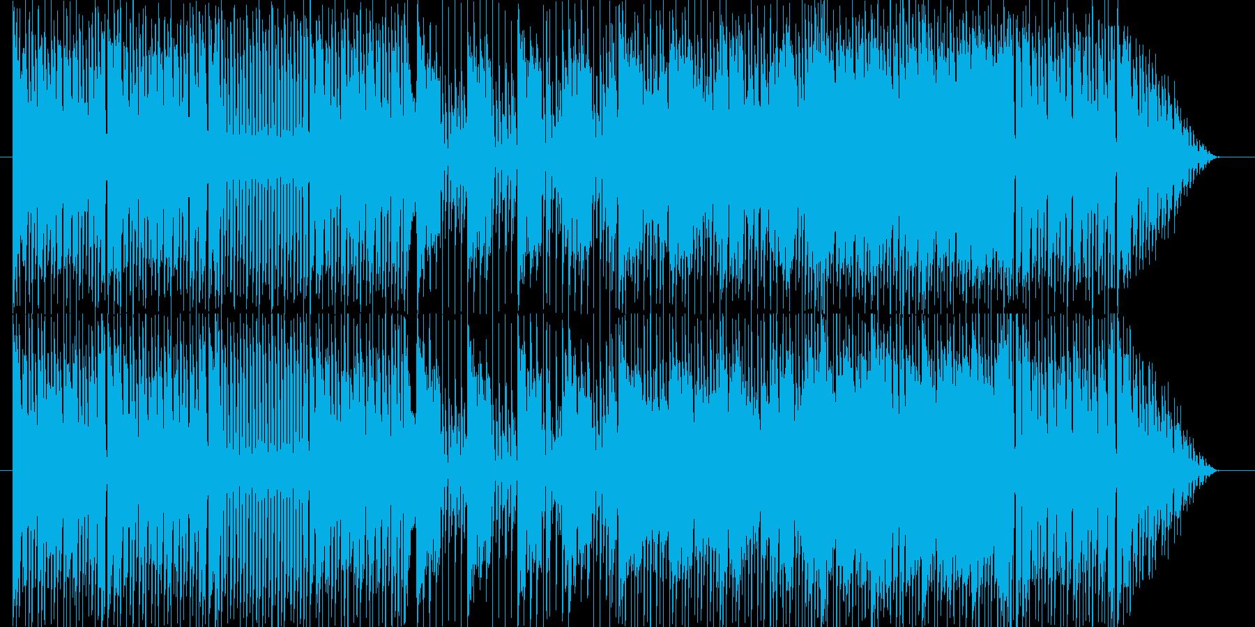 楽しくユルめな雰囲気のゲームBGMの再生済みの波形