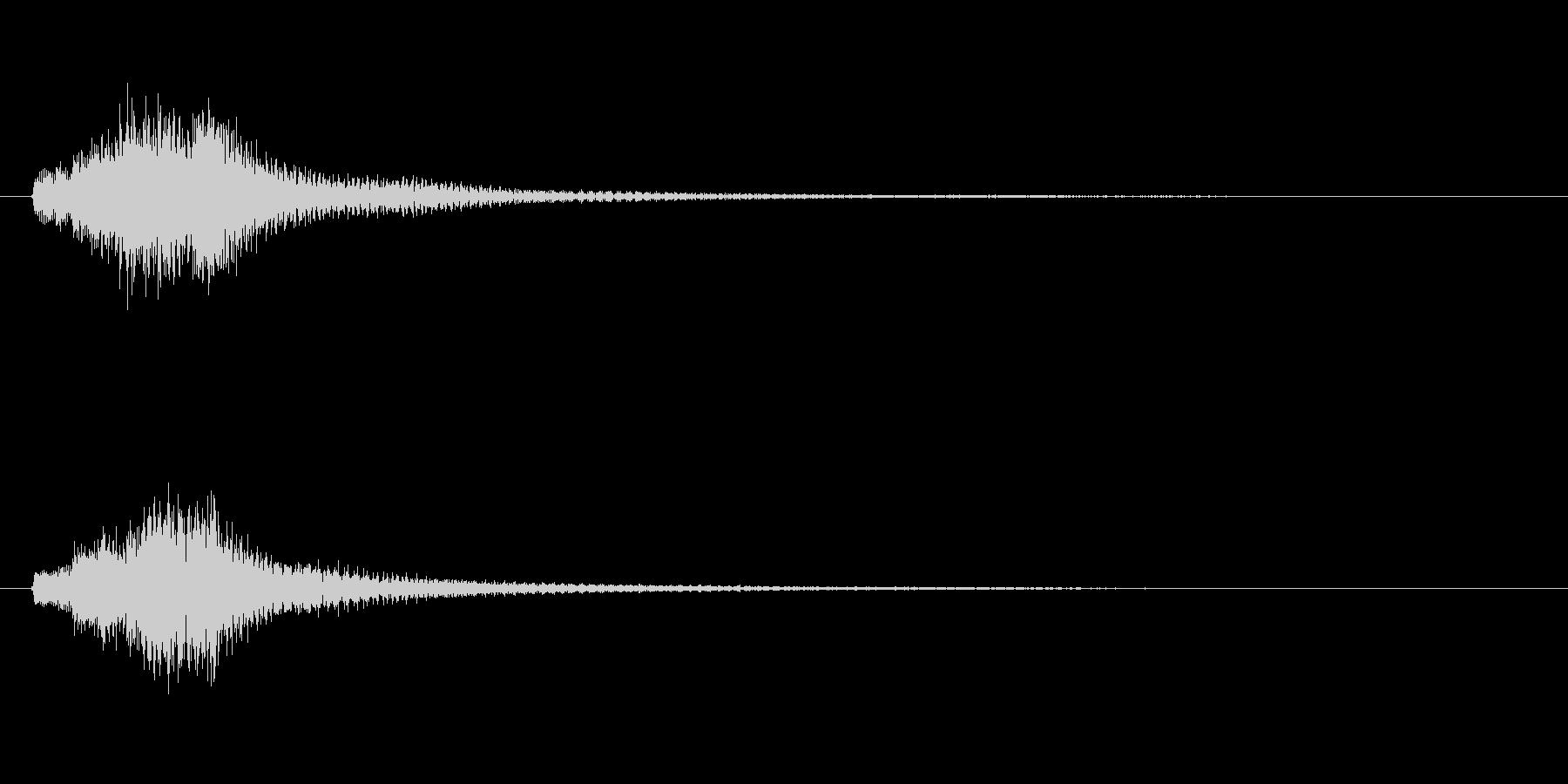 琴、平調子、上昇スケールジングルの未再生の波形