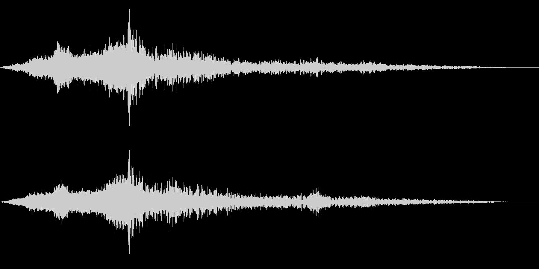 ホラー映画に出てきそうなノイズ系音源19の未再生の波形