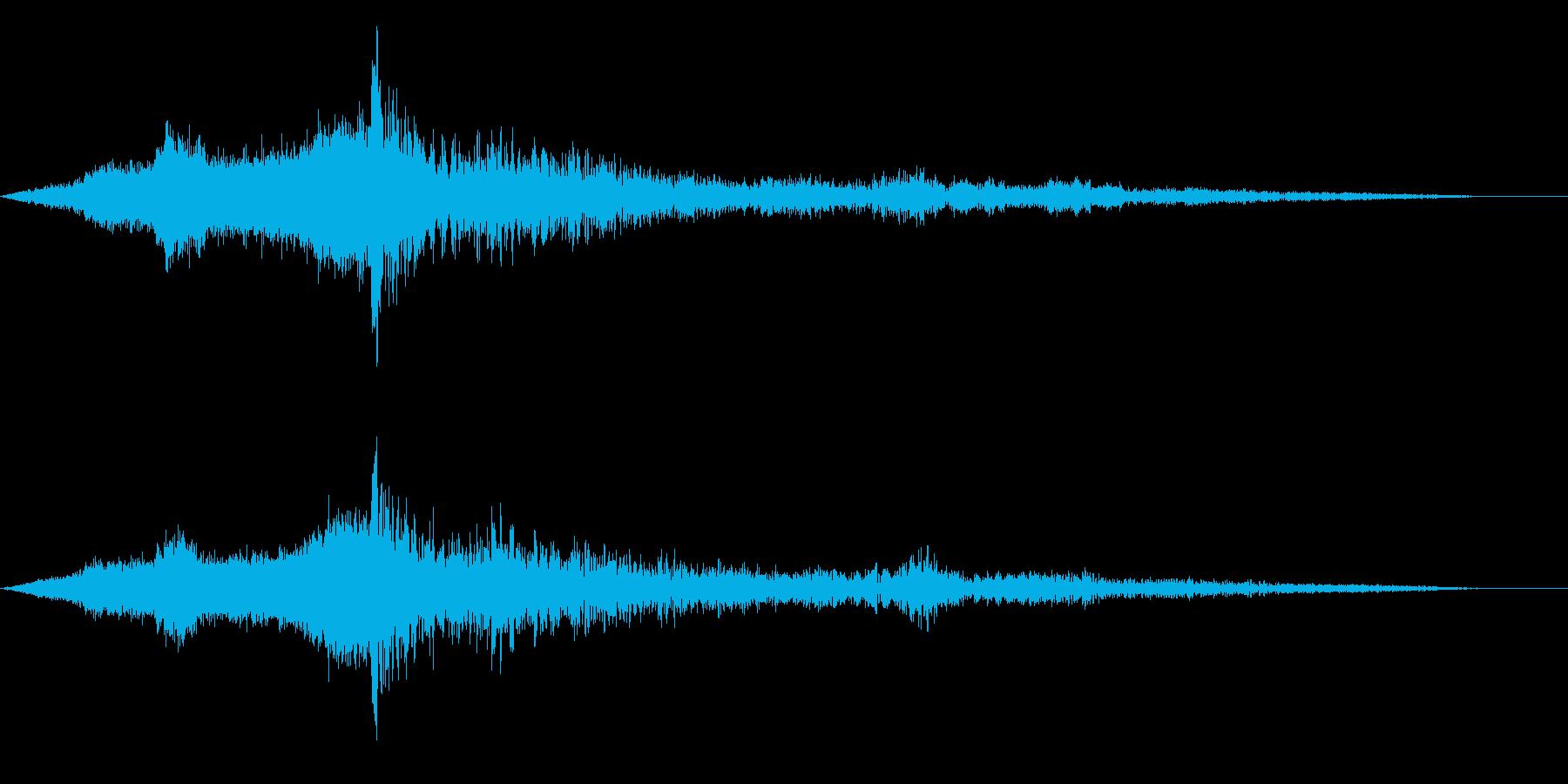 ホラー映画に出てきそうなノイズ系音源19の再生済みの波形