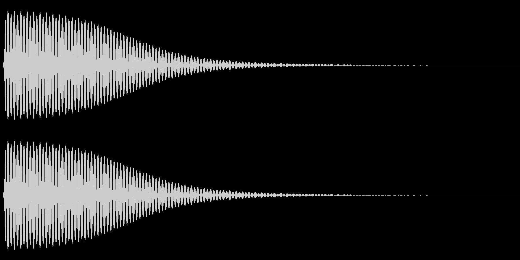 Com ファミコンなどのコマンド音 6の未再生の波形