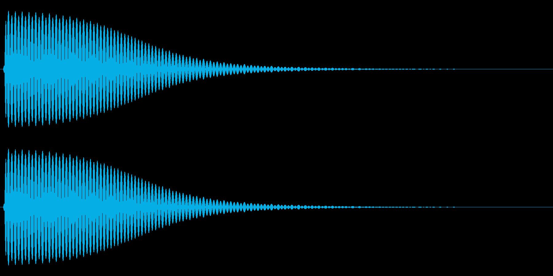 Com ファミコンなどのコマンド音 6の再生済みの波形