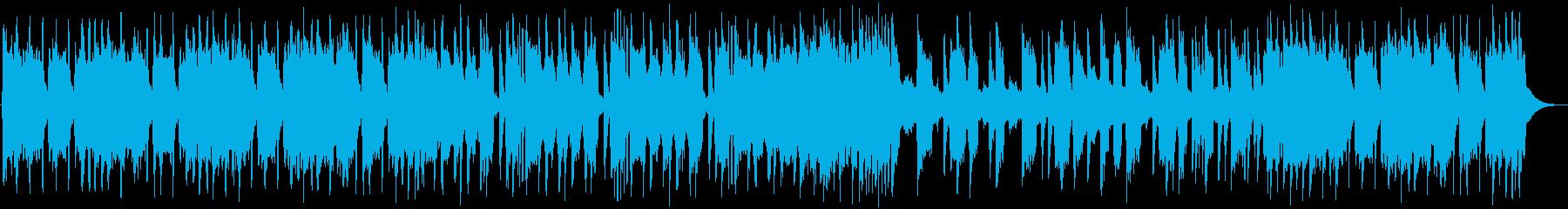 バッドさが全開のヘヴィメタル系BGMの再生済みの波形