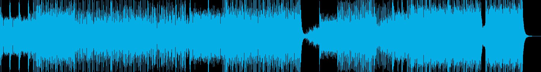 踊り明かす・駆け抜ける爽快なEDM 短尺の再生済みの波形