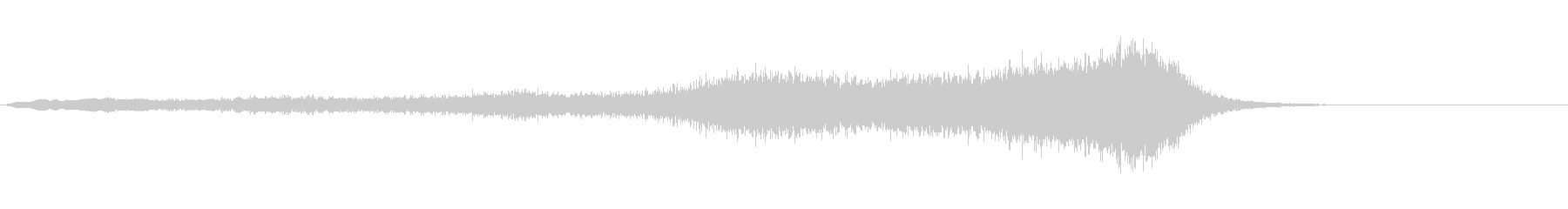 ホラー系効果音16の未再生の波形