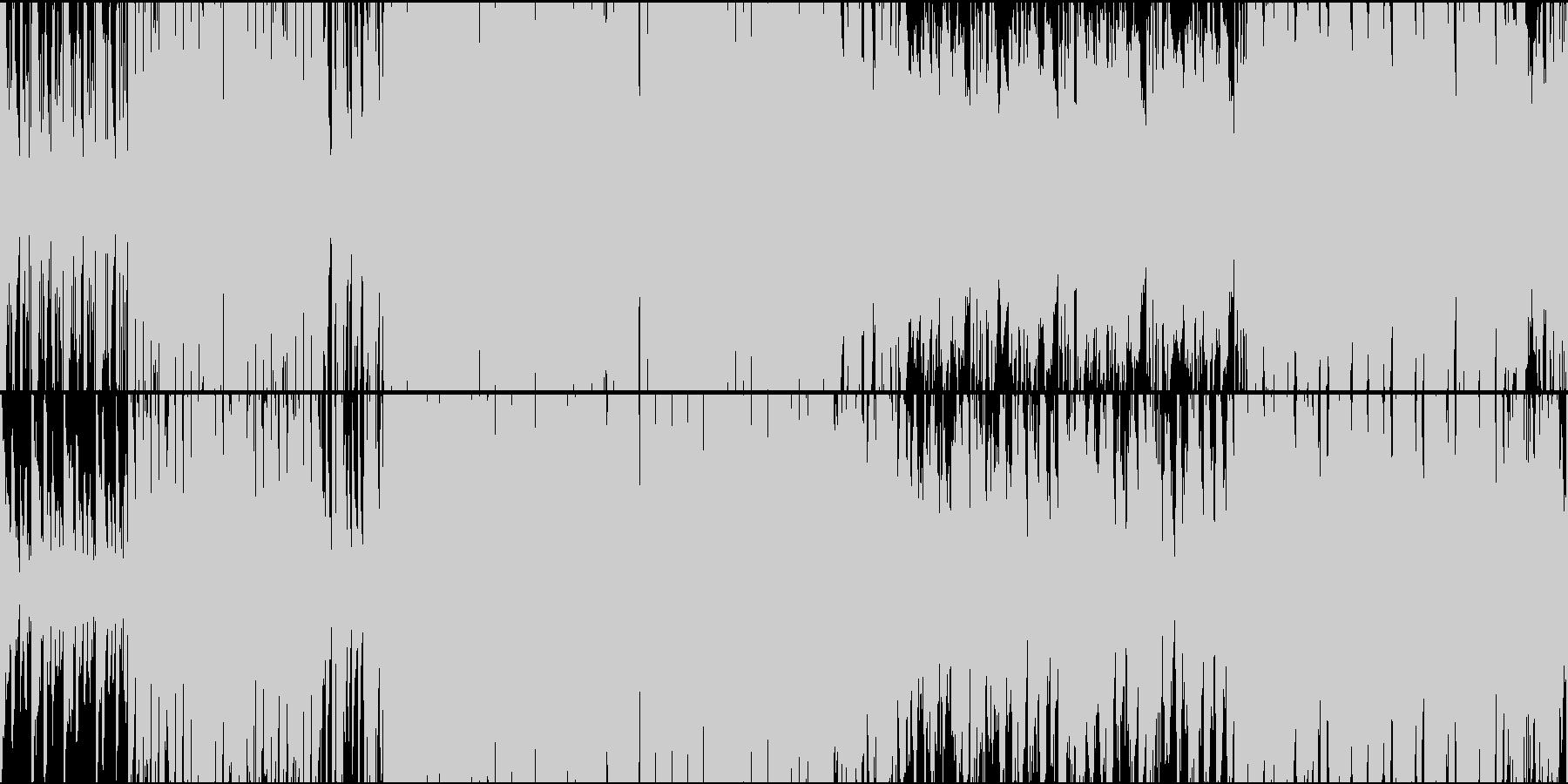 アジア+ラテン風戦闘曲!ループ素材の未再生の波形