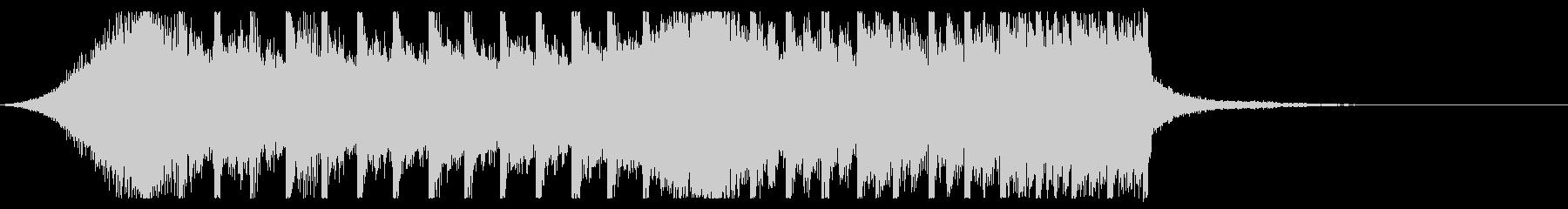 切ないきらきらピアノジングル④ 映画風の未再生の波形
