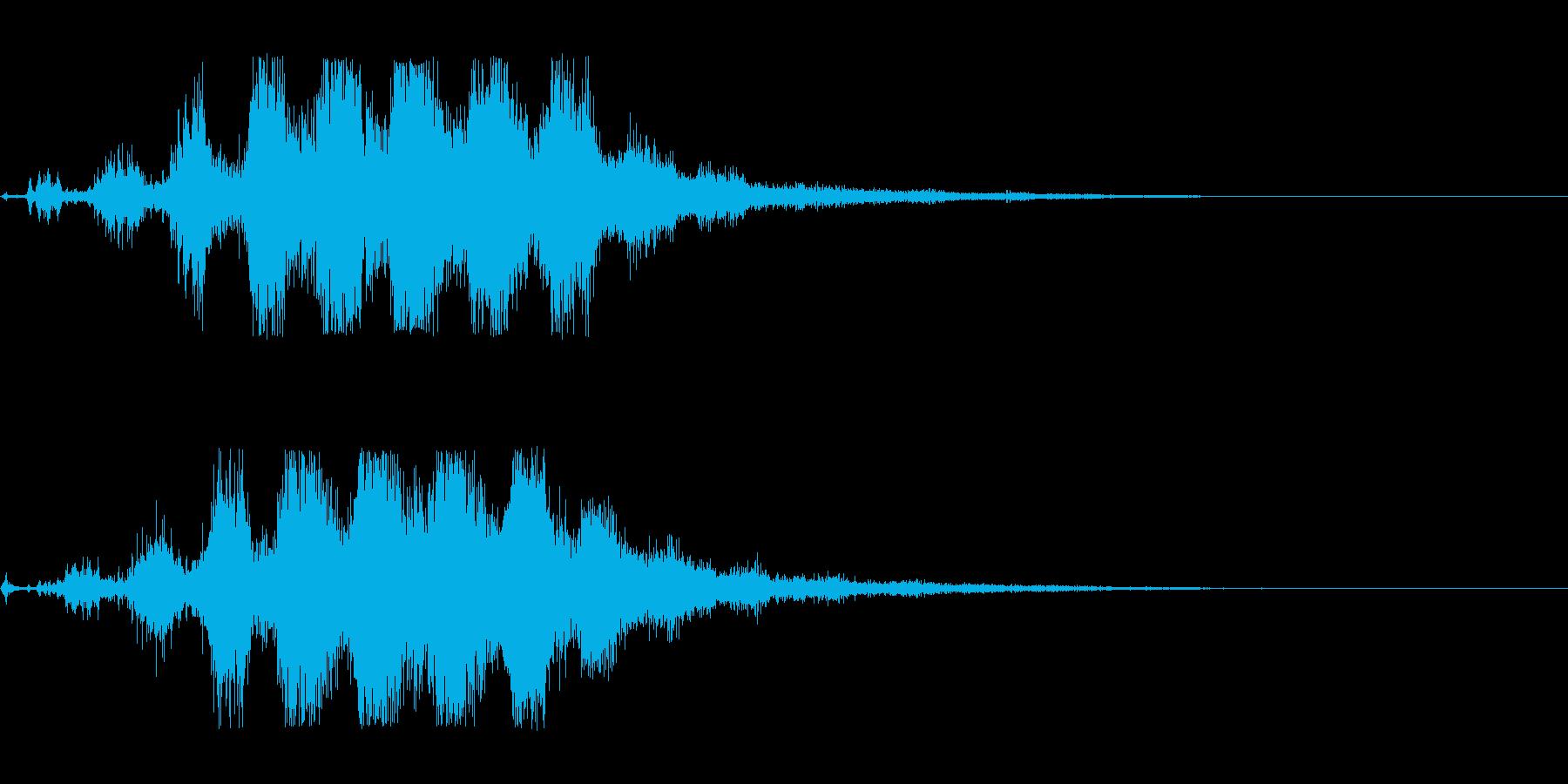空間系の魔法音_その3の再生済みの波形