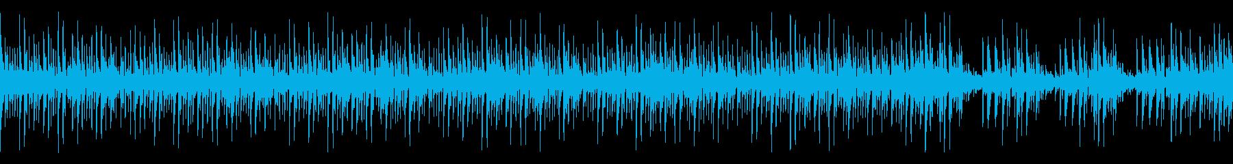ミステリアスなインスト(ループ)の再生済みの波形