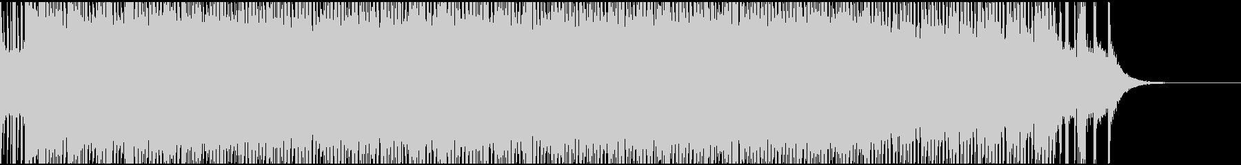 重たく力強いテクノサウンドの未再生の波形