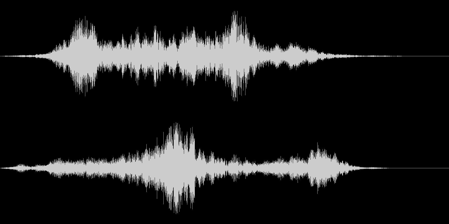 ミョーン(不思議な印象の音)の未再生の波形