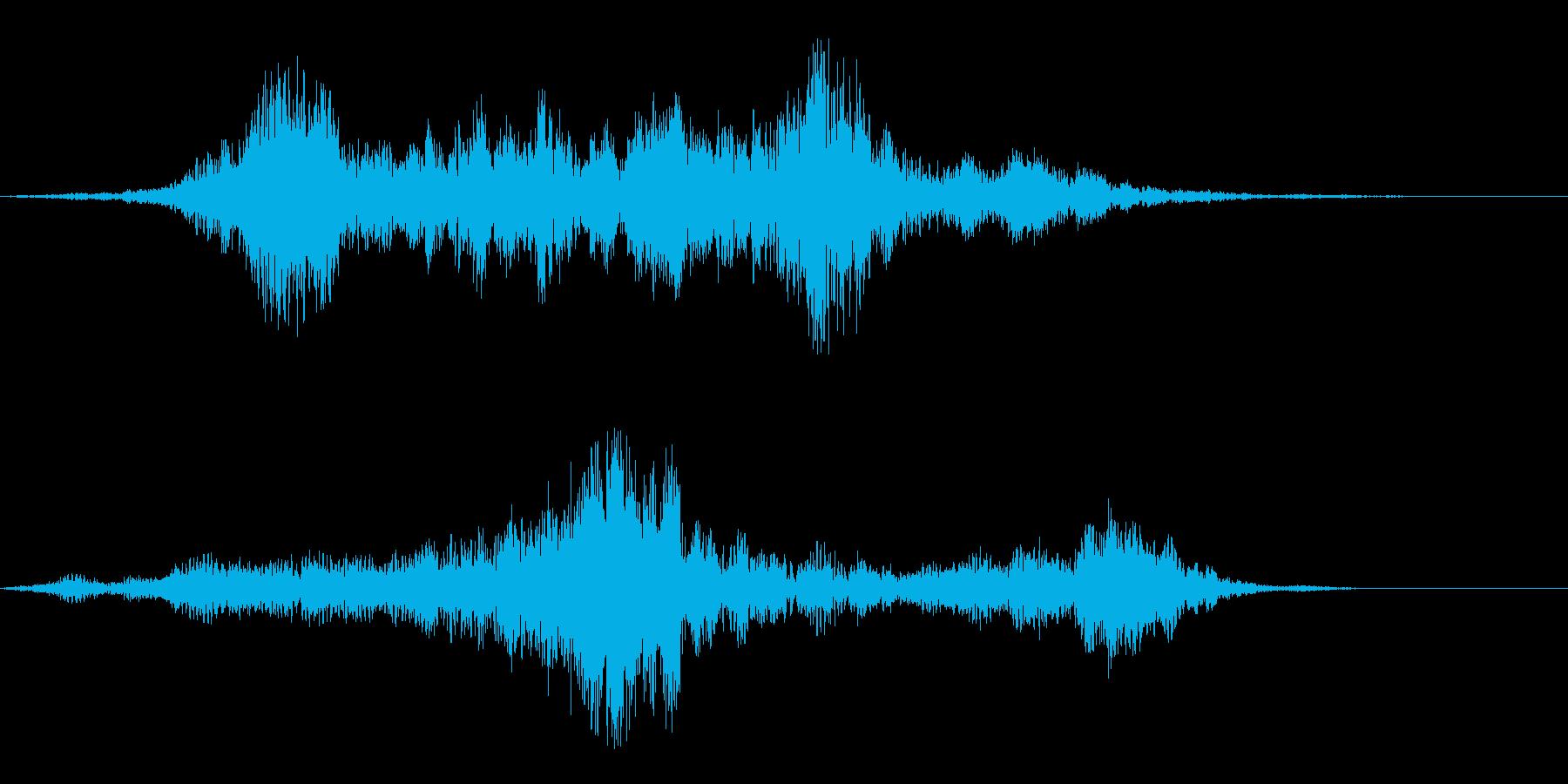 ミョーン(不思議な印象の音)の再生済みの波形