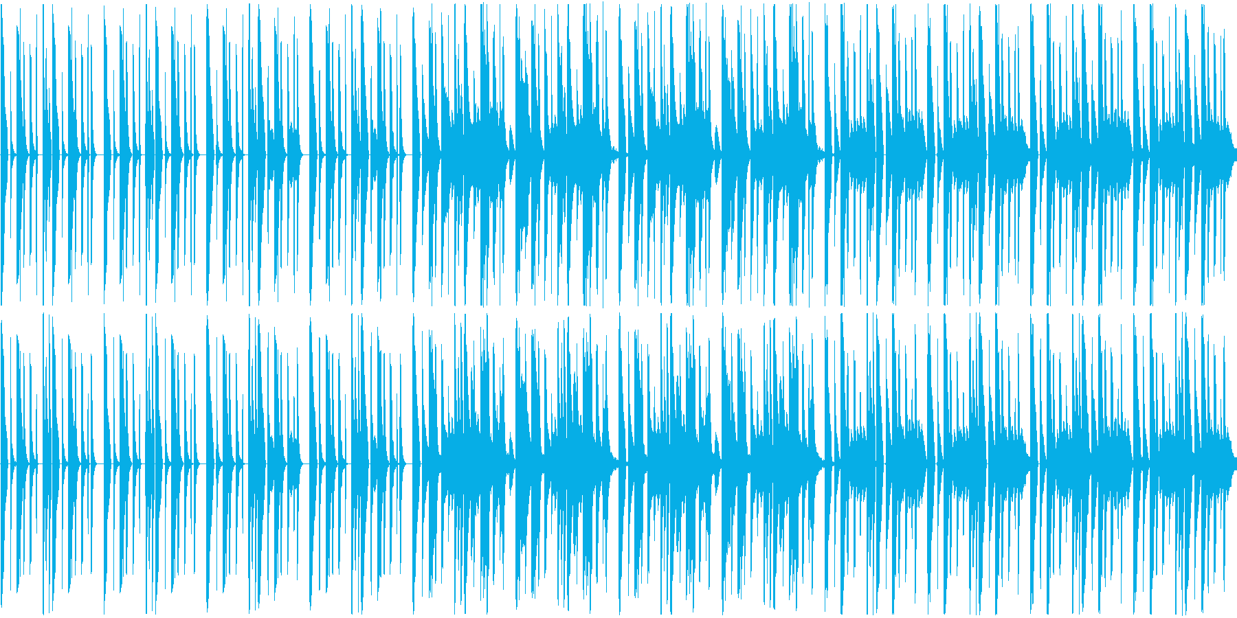 軽やかな曲ですの再生済みの波形