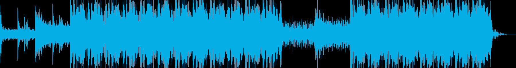 ミステリアスでCOOLなサスペンスEDMの再生済みの波形