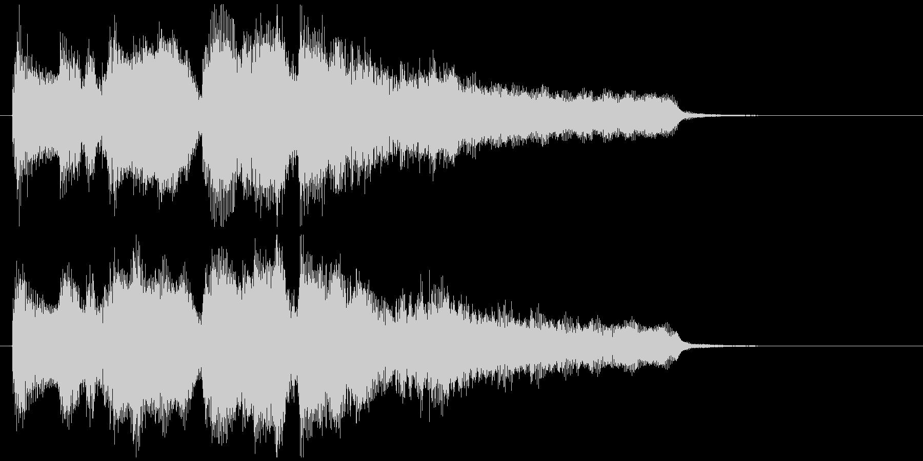 ボサノバのジングル、優しい音色のサックスの未再生の波形