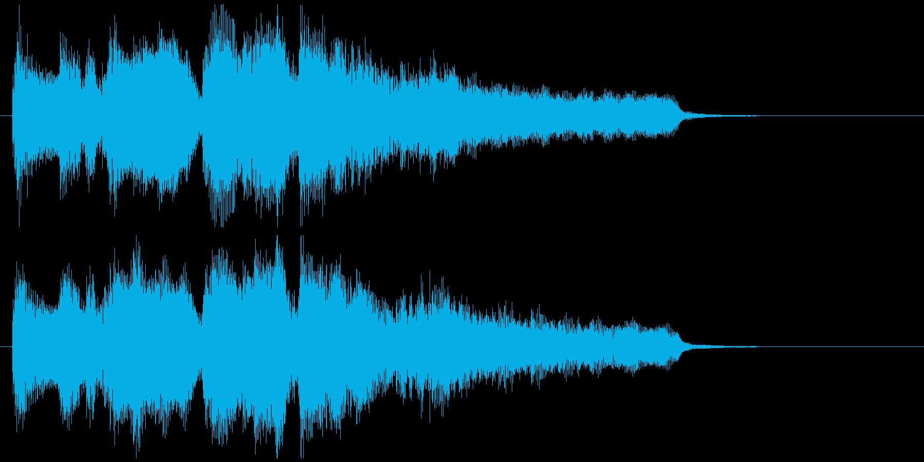 ボサノバのジングル、優しい音色のサックスの再生済みの波形