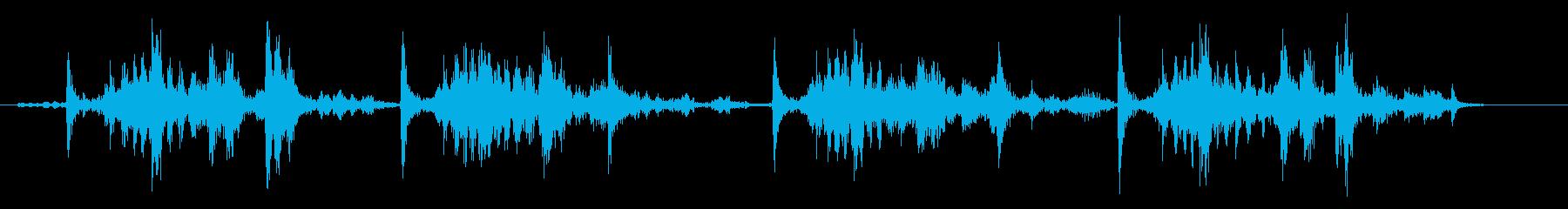 船外機のプルコードを4回引くの再生済みの波形