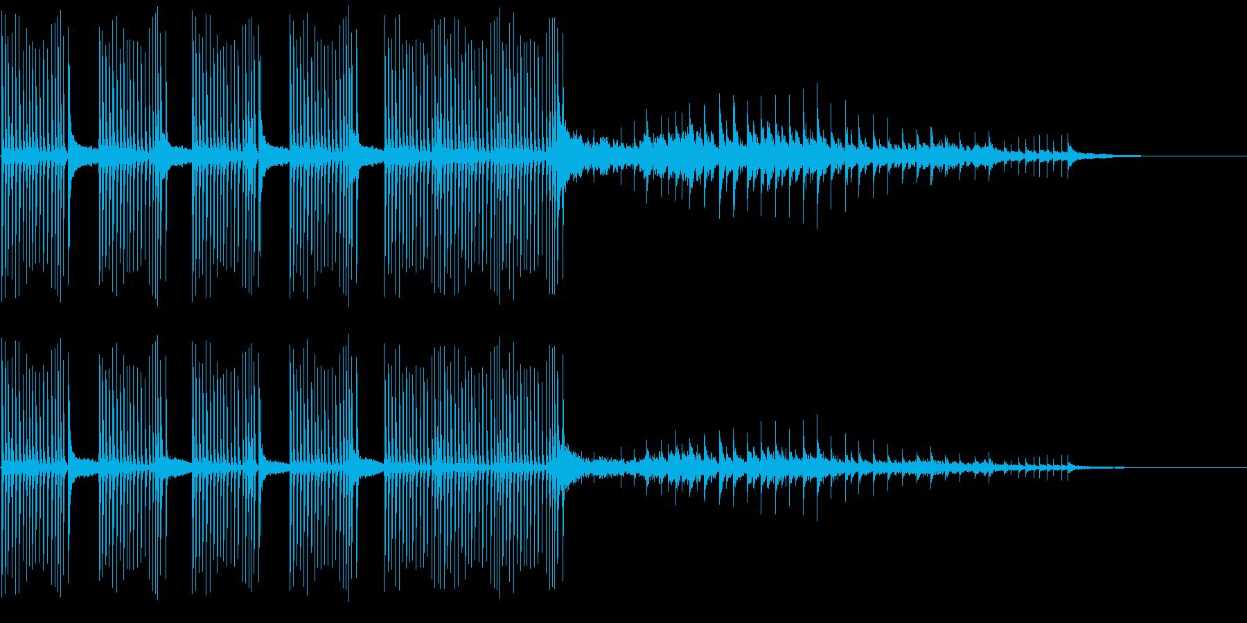 連続クランク、コメディコミックフリ...の再生済みの波形