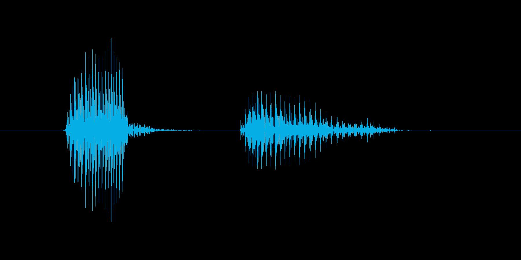 バッターの再生済みの波形