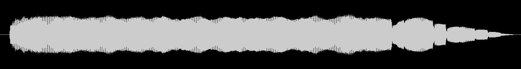シンセサイザー 金属オルガンハイ03の未再生の波形