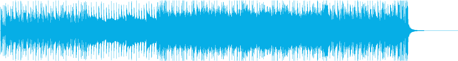 激しいギターロックの再生済みの波形