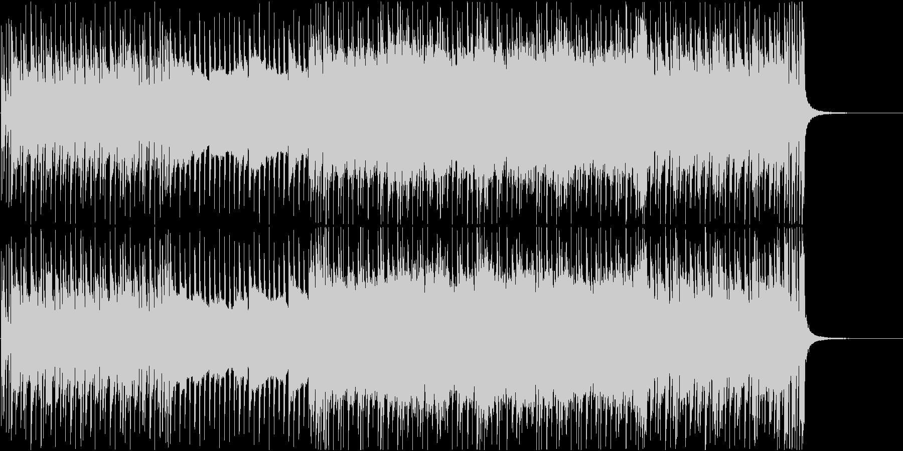 激しいギターロックの未再生の波形