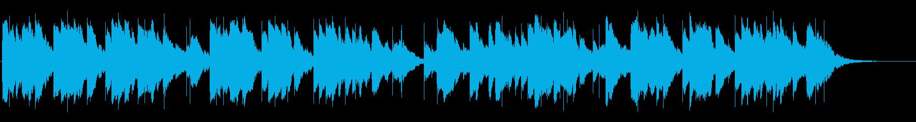 しっとりと切ないオルゴール曲の再生済みの波形