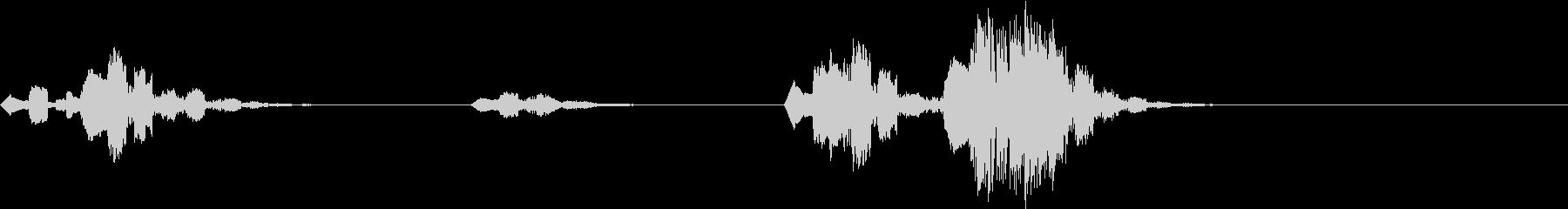 Jungle Monkeys 猿の鳴き声の未再生の波形