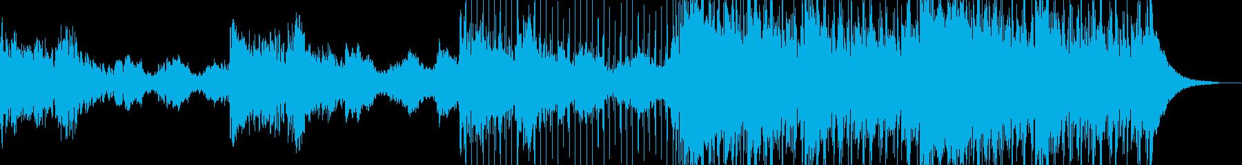 氷山をイメージした曲の再生済みの波形