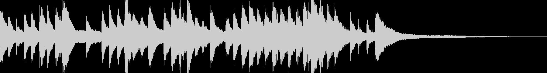 ゲーム・CM向け穏やかなピアノソロの未再生の波形