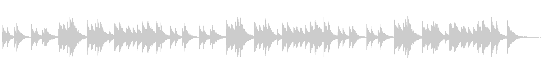 ゆったり穏やか/3拍子/ピアノソロの未再生の波形