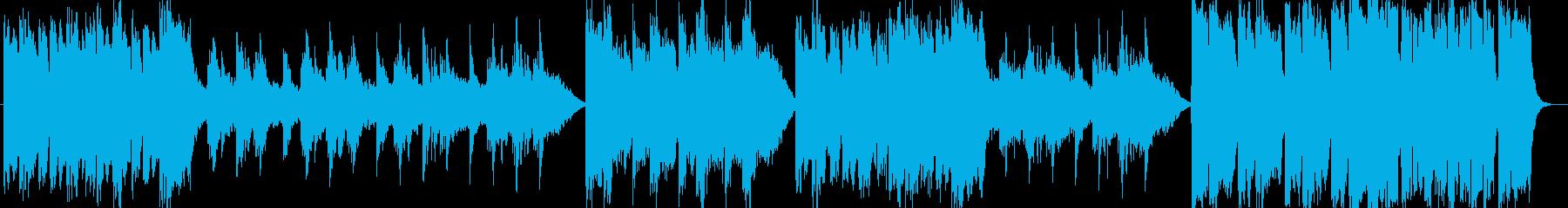 壮大なスケールのオーケストラ楽曲の再生済みの波形