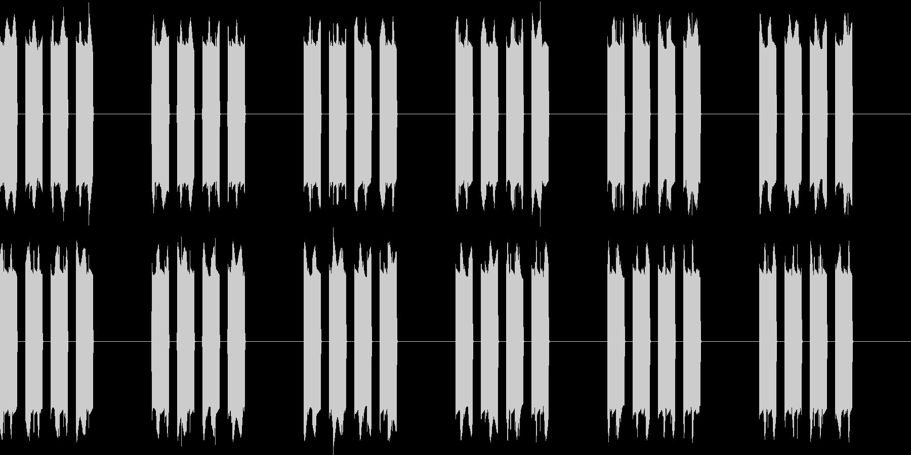 ピピピピッ..。携帯の着信音B(長め)の未再生の波形